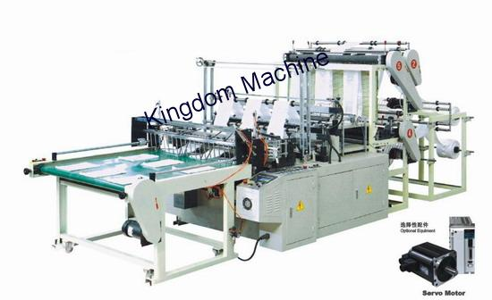 Six lines plastic bag machine